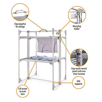 Dry:Soon Deluxe 2-Tier Heated Airer and Cover Offer Bundle alt image 4