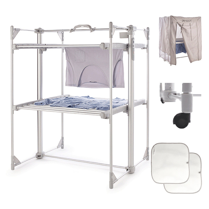 Dry:Soon Deluxe 2-Tier Heated Airer and Full Accessories