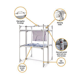 Dry:Soon Deluxe 2-Tier Heated Airer and Full Accessories Offer alt image 3