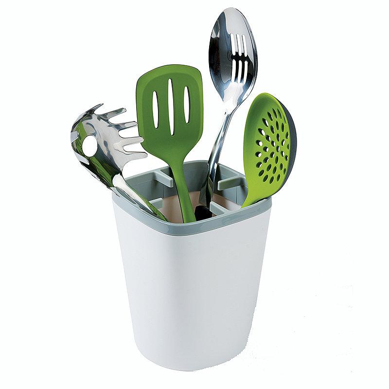 ILO Kitchen Utensil Pot White and Grey