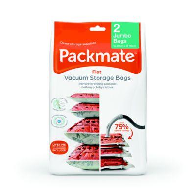 2 PackMate&174 Jumbo Flat Vacuum Bags