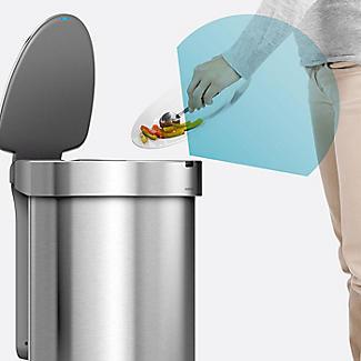 simplehuman Semi-Round Sensor Bin - Rose Gold 45L alt image 6