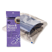 10 Store and Protect Zip Seal Clothes Bags