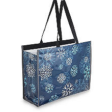 Freezy Insulated Shopping Bag - 13L Blue Snowflake Pattern
