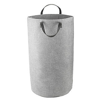 Standing Laundry Tote Basket 48L Grey