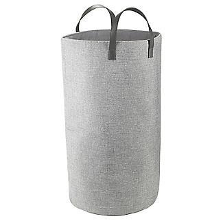 Standing Laundry Tote Basket 48L Grey alt image 3