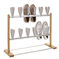 2 Tier Modern Pop On Shoe Rack - Holds 12 Pairs