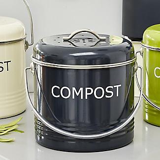 Worktop Compost Bin Slate Grey 3.5L  alt image 2