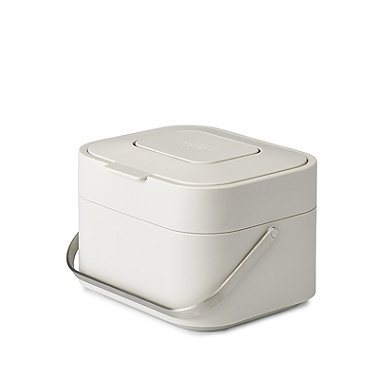 Joseph Joseph Stack 4 Food Waste Caddy with Odour Filter - Stone