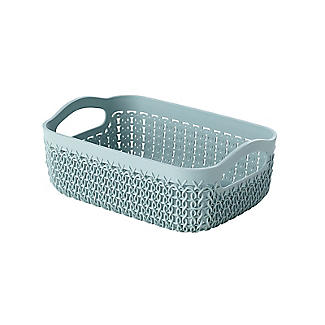 Curver Knit Effect Storage Tray Small - Blue alt image 1