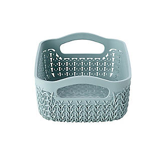 Curver Knit Effect Storage Tray Small - Blue alt image 3