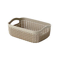 Curver Knit Effect Storage Tray Small - Dune