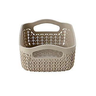 Curver Knit Effect Storage Tray Small - Dune alt image 3