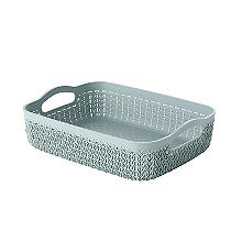 Curver Knit Effect Storage Tray Medium - Blue
