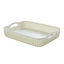 Curver Knit Effect Storage Tray Large - Cream