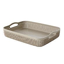 Curver Knit Effect Storage Tray Large - Dune