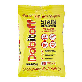 Kilrock Dabitoff Carpet and Upholstery Stain Remover Wipes 20 Pack alt image 1
