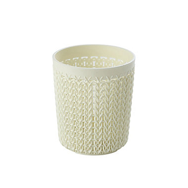 Curver Knit Effect Storage Pot Cream