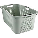 Rotho Lattice Effect Laundry Basket 40L Mint Green
