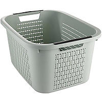 Rotho Lattice Effect Laundry Basket 22L Mint Green