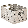 Rotho Lattice Effect Storage Basket Small - Stone