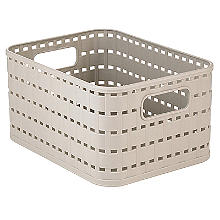 Rotho Lattice Effect Storage Basket Small - Cream