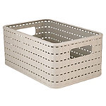 Rotho Lattice Effect Storage Basket Medium - Stone