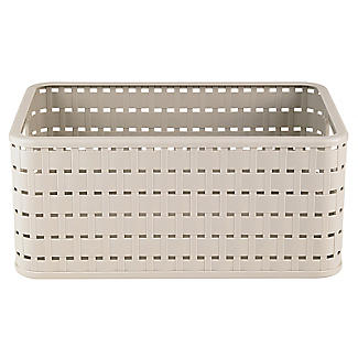Rotho Lattice Effect Storage Basket Medium - Stone alt image 3