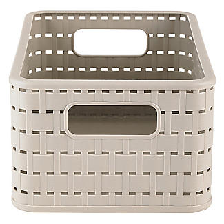 Rotho Lattice Effect Storage Basket Medium - Stone alt image 4
