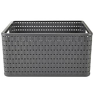 Rotho Lattice Effect Storage Basket Large - Slate