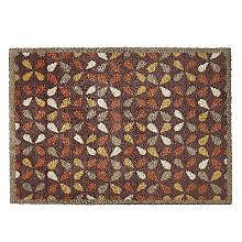 Fußmatte von Turtle Mats mit geometrischem Blattmuster, 85 x 59cm