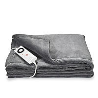 Velvety Electric Heated Throw Grey 120 x 160cm 16447