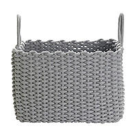 Oblong Woven Rope Tote Grey 32L
