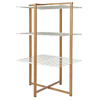 Italian Design Folding Wooden 3-Tier Tower Clothes Airer