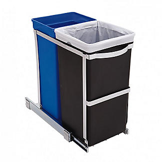 simplehuman Under-Counter Pull Out Twin Recycler Bin 35L