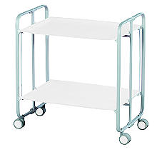 Hahn Gala Folding 2-Tier Serving Trolley Grey with White Trays
