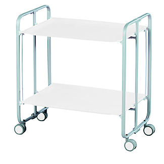 Hahn Gala Folding 2-Tier Serving Trolley Grey with