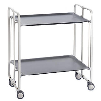 Hahn Gala Folding 2-Tier Serving Trolley White with