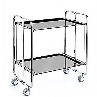 Hahn Neo Folding 2-Tier Serving Trolley Chrome with