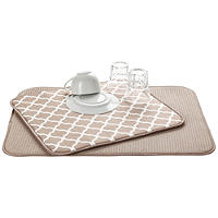 2 Double Sided Drying Mat Beige Trellis
