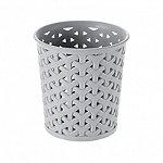 Faux Rattan Small Storage Pot Grey