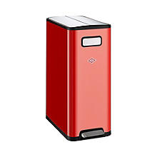 Wesco Big Double Master Recycling Pedal Bin - Red 40L