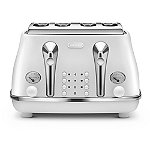 De'longhi Icona Elements 4 Slice Toaster Cloud White CTOE4003.W