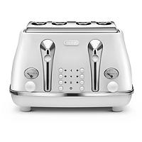 Delonghi Icona Elements 4 Slice Toaster Cloud White