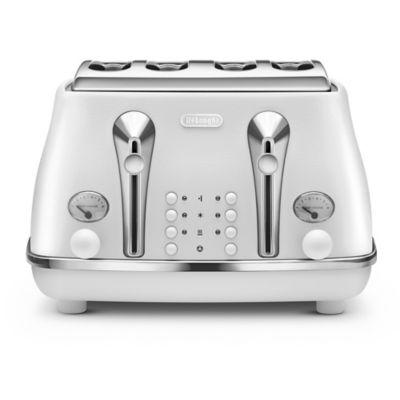 De&aposlonghi Icona Elements 4 Slice Toaster Cloud White CTOE4003.W