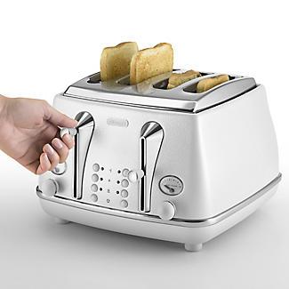 De'longhi Icona Elements 4 Slice Toaster Cloud White CTOE4003.W alt image 2