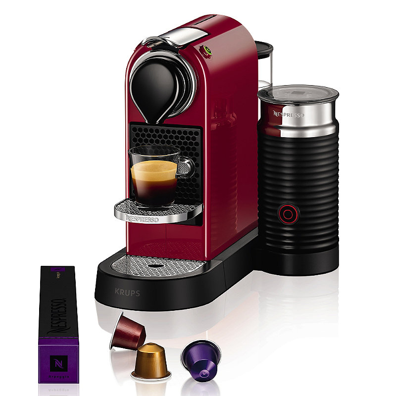 Krups Nespresso Citiz Red with Milk