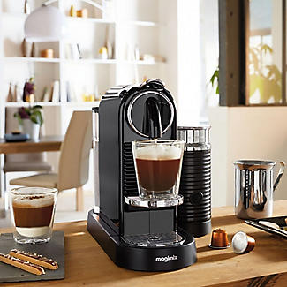 magimix nespresso citiz milk coffee machine 11317 black. Black Bedroom Furniture Sets. Home Design Ideas