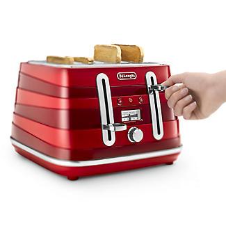 De'Longhi Avvolta Toaster Red CTA4003.R alt image 3