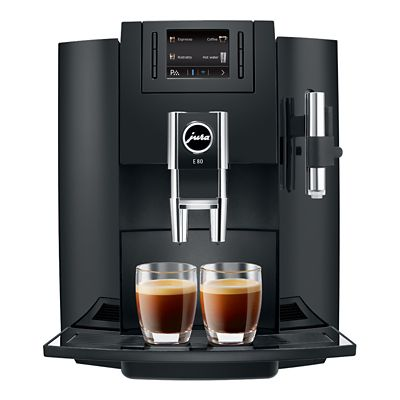 Jura E80 Beantocup Coffee Machine Piano Black 15083